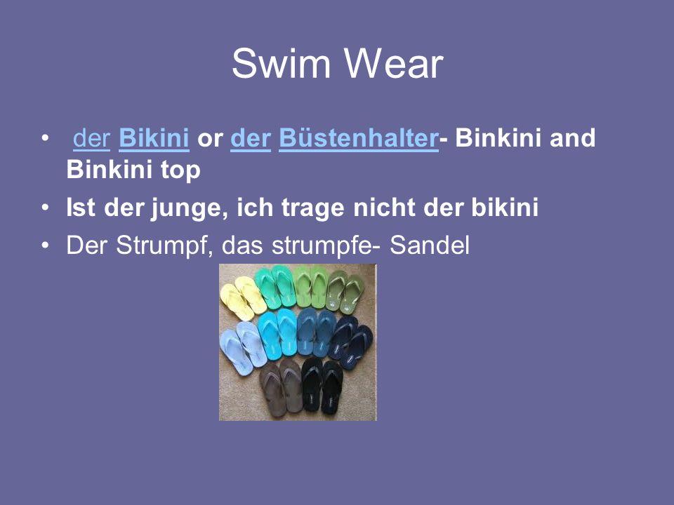 Swim Wear der Bikini or der Büstenhalter- Binkini and Binkini topderBikiniderBüstenhalter Ist der junge, ich trage nicht der bikini Der Strumpf, das strumpfe- Sandel