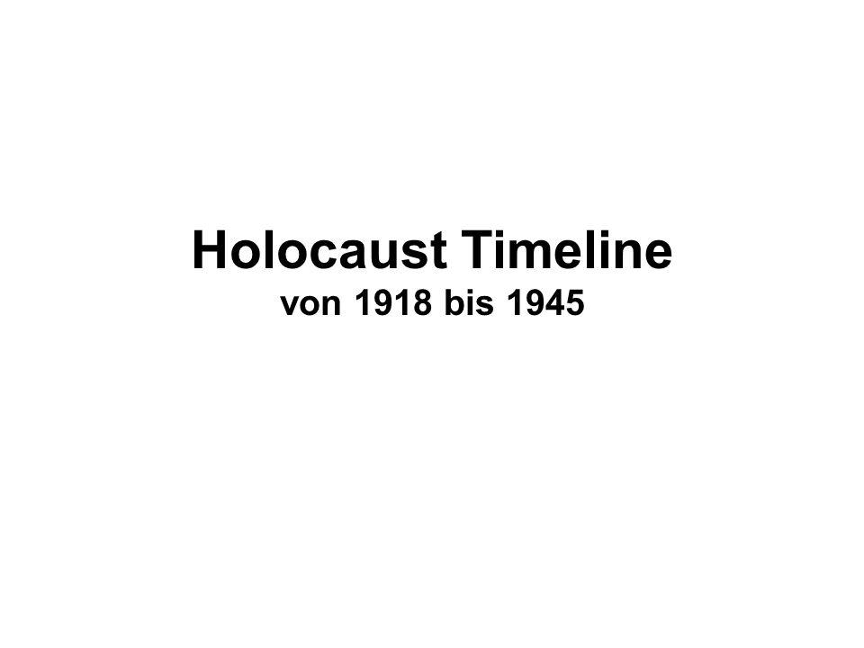 Holocaust Timeline von 1918 bis 1945