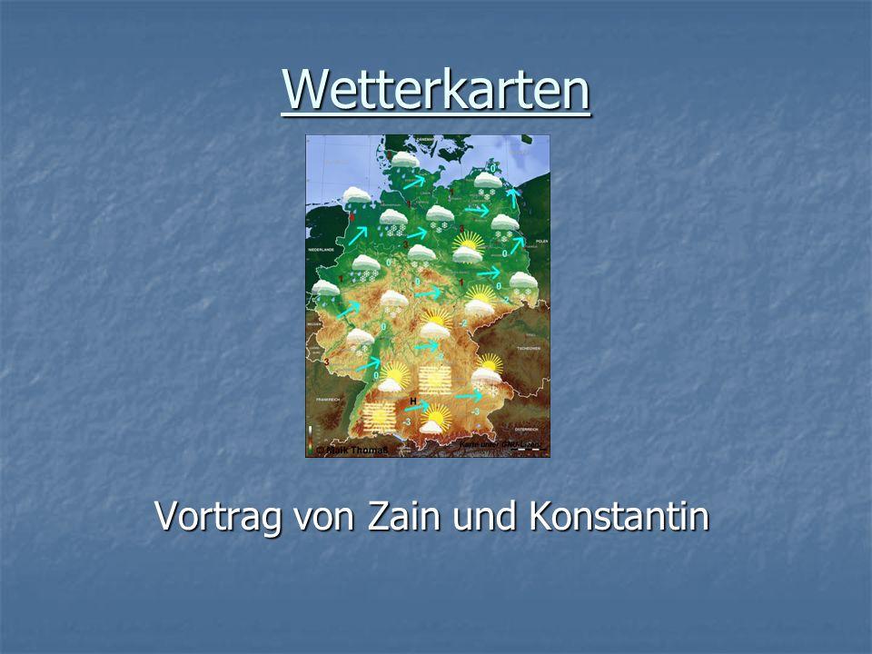 Wetterkarten Vortrag von Zain und Konstantin