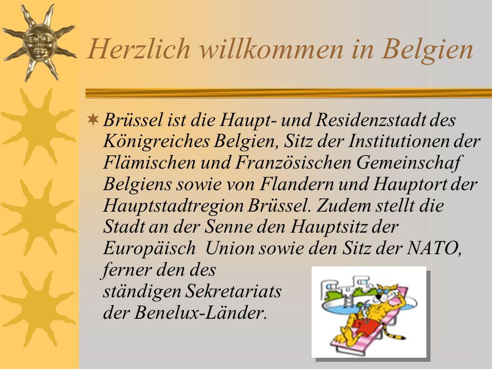 Herzlich willkommen in Belgien Brüssel ist die Haupt- und Residenzstadt des Königreiches Belgien, Sitz der Institutionen der Flämischen und Französisc