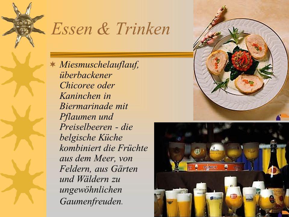 Essen & Trinken Miesmuschelauflauf, überbackener Chicoree oder Kaninchen in Biermarinade mit Pflaumen und Preiselbeeren - die belgische Küche kombinie