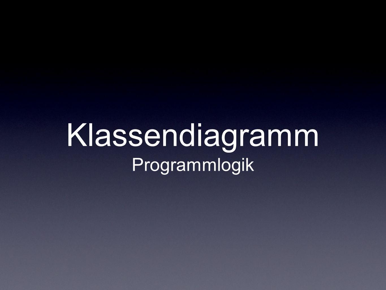 Klassendiagramm Programmlogik