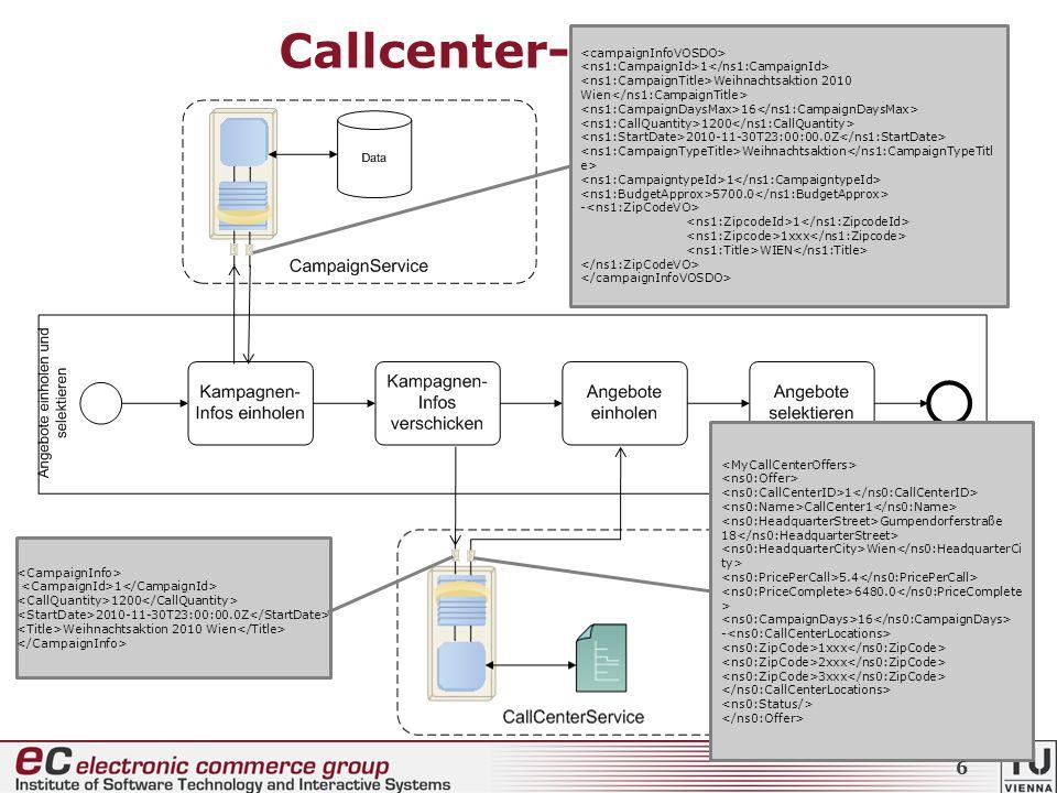 + Callcenter-Prozess CallCenterBookingComposite 1 Weihnachtsaktion 2010 Wien 16 1200 2010-11-30T23:00:00.0Z Weihnachtsaktion 1 5700.0 - 1 1xxx WIEN 1