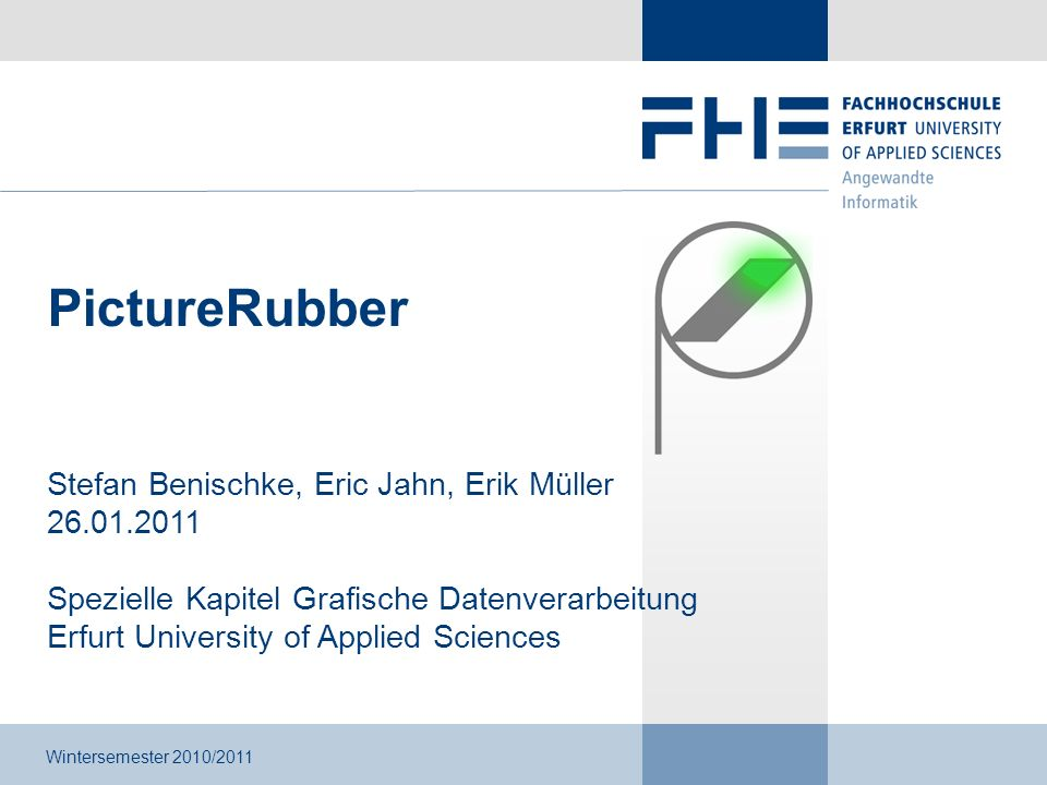 Stefan Benischke, Eric Jahn, Erik Müller - PictureRubber 12 / 17 4.