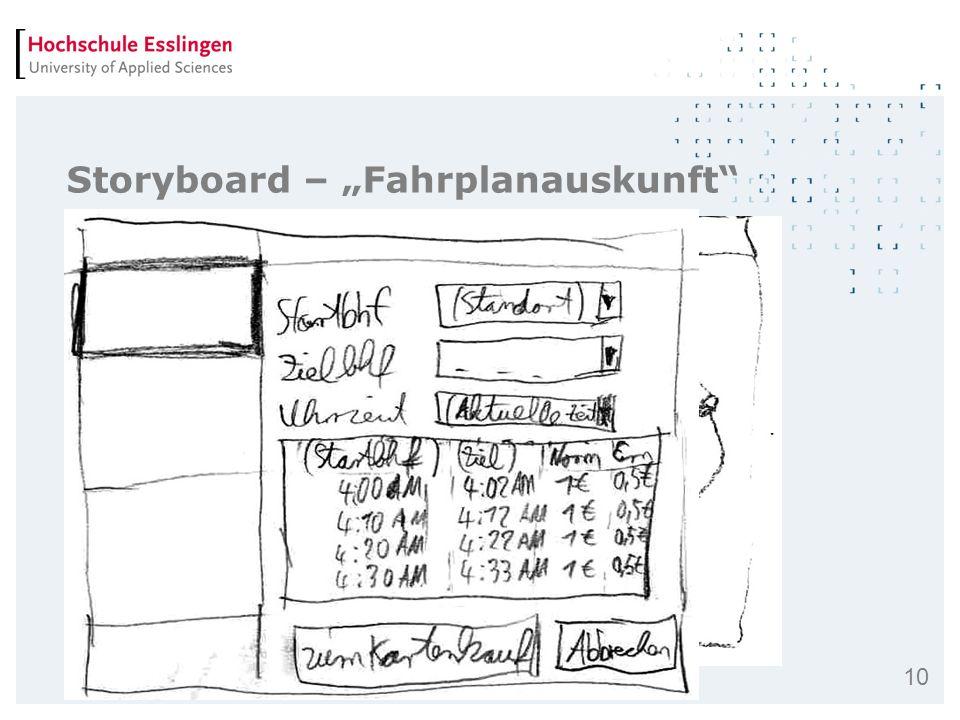 10 Storyboard – Fahrplanauskunft