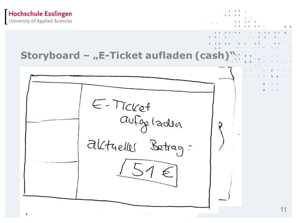 11 Storyboard – E-Ticket aufladen (cash)