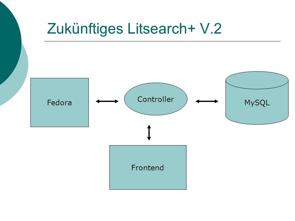 Zukünftiges Litsearch+ V.2 Frontend MySQL Fedora Controller