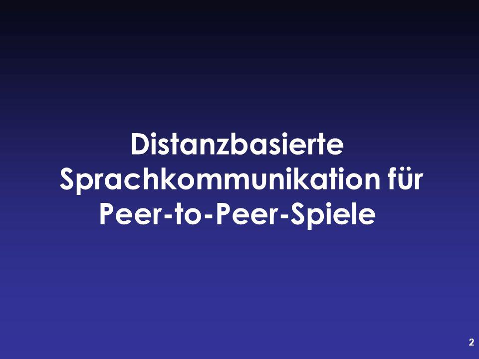 2 Distanzbasierte Sprachkommunikation für Peer-to-Peer-Spiele
