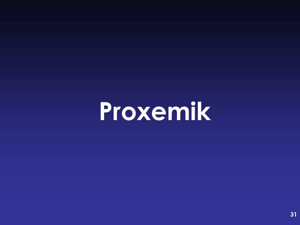 31 Proxemik