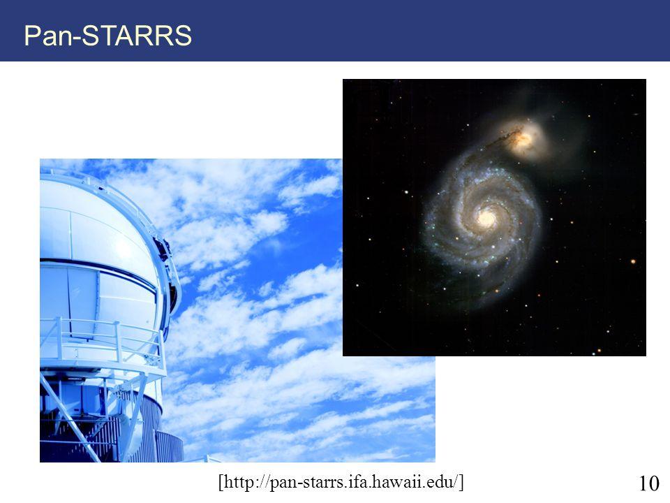 10 Pan-STARRS [http://pan-starrs.ifa.hawaii.edu/]