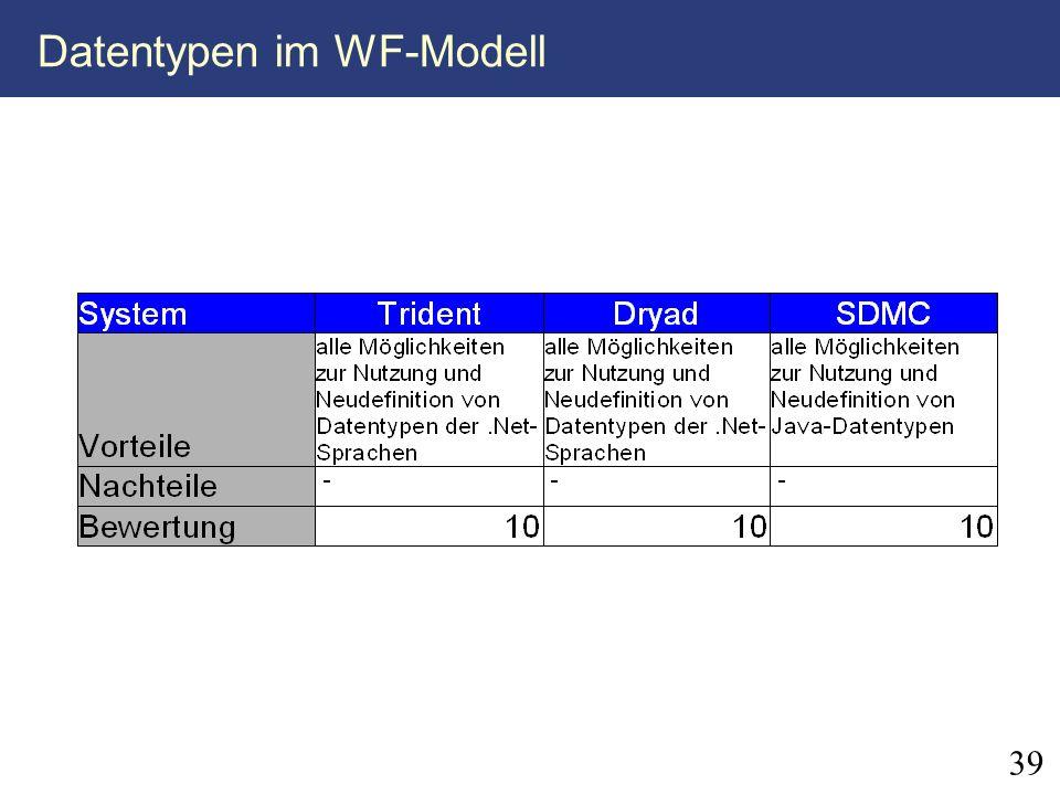 39 Datentypen im WF-Modell