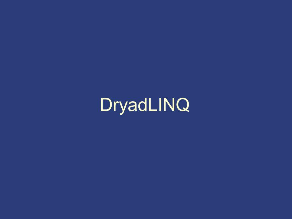 5 Übersicht: DryadLINQ Microsoft Entwicklungs- und Ausführungsumgebung Schwerpunkt auf Entwicklung skalierbarer und paralleler Rechensysteme auf großen Cluster Voraussetzungen: HPC-Cluster, Windows Server zwei Hauptkomponenten: Dryad verteilte Execution Engine parallele Ausführung von Applikationen auf großen Cluster- Systemen Ausführungsmodell basiert auf einem gerichteten, azyklischen Graphen LINQ (Language Integrated Query) Verwendung von Visual Studio ermöglicht es Applikationen in einem SQL-ähnlichen Syntax zu schreiben