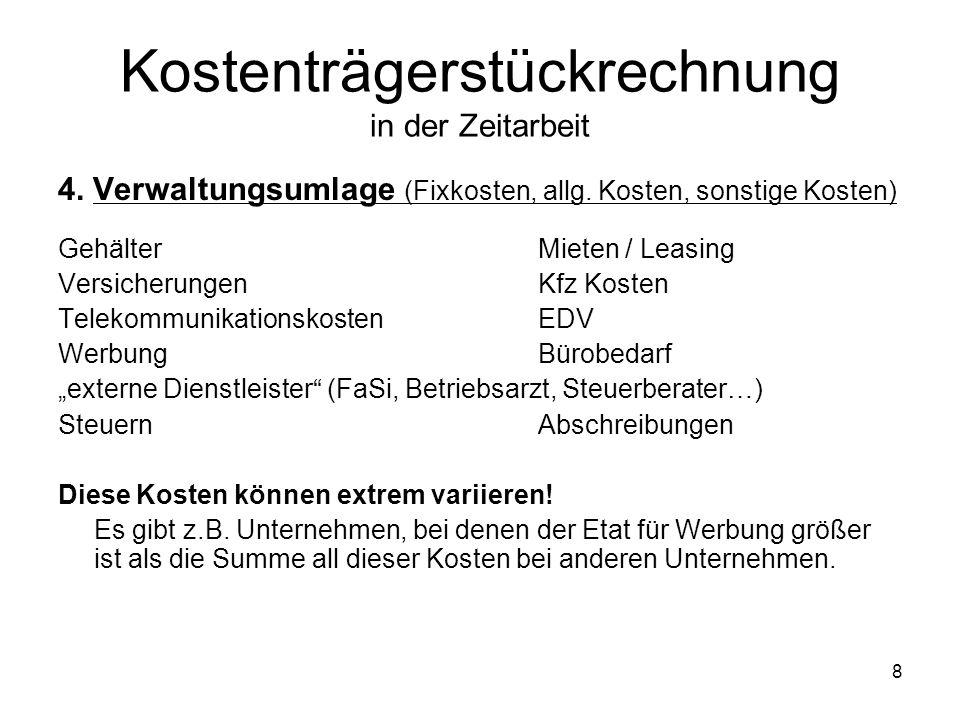 4.Verwaltungsumlage (Fixkosten, allg.