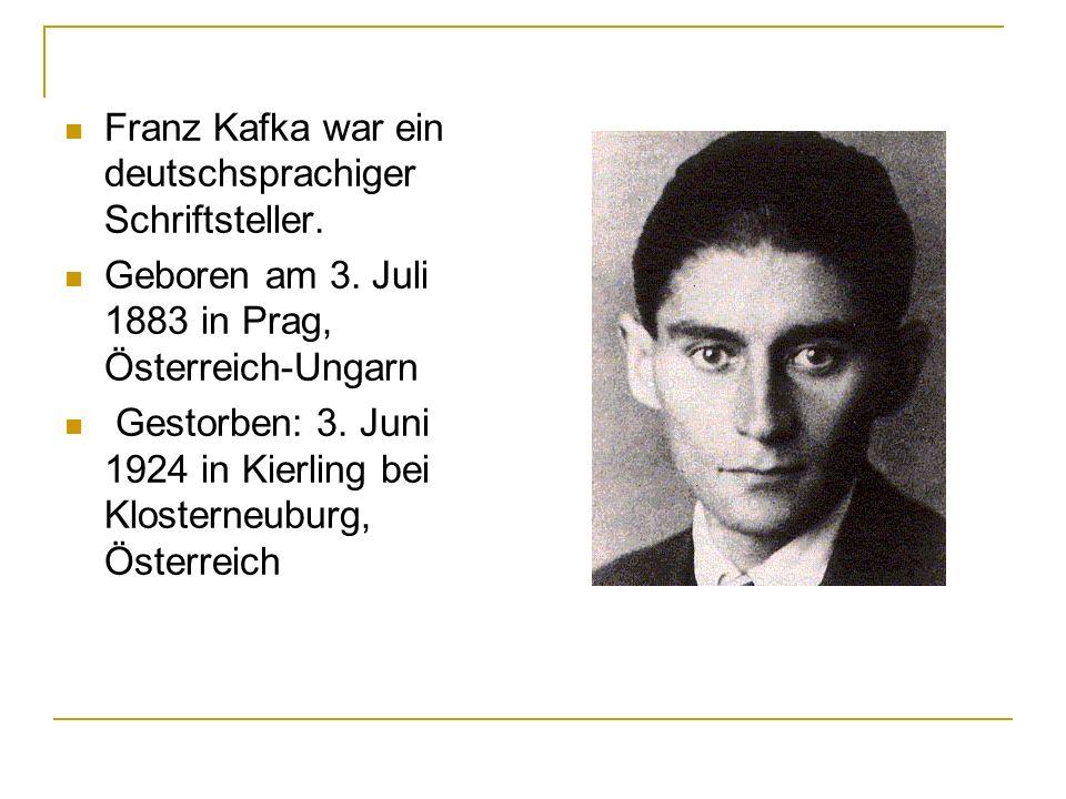 QUELLEN: http://www.discoverczech.com/apictures/z_pr ague/prague/praguetours/franz-kafka-v.jpg http://www.discoverczech.com/apictures/z_pr ague/prague/praguetours/franz-kafka-v.jpg http://de.wikipedia.org/wiki/Franz_Kafka http://www.zeno.org/Literatur/M/Kafka,+Franz /Romane/Das+Schlo%C3%9F/Das+erste+Ka pitel
