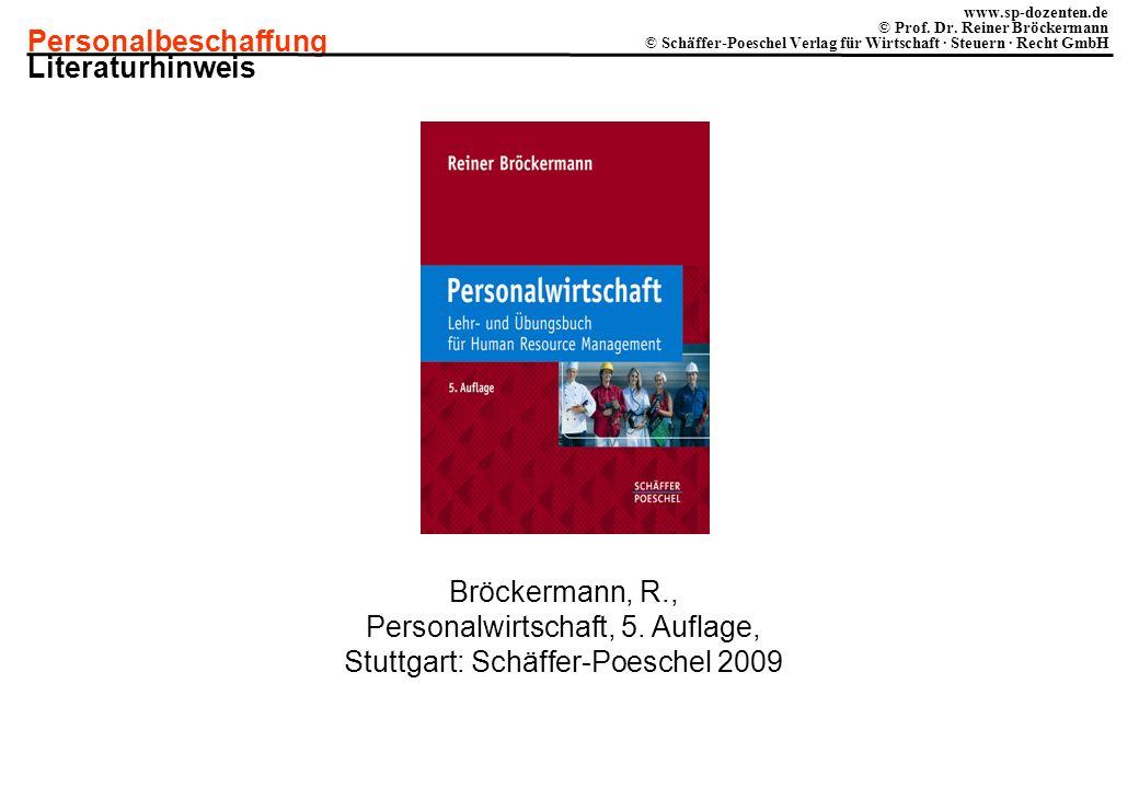 Personalbeschaffung www.sp-dozenten.de © Prof.Dr.