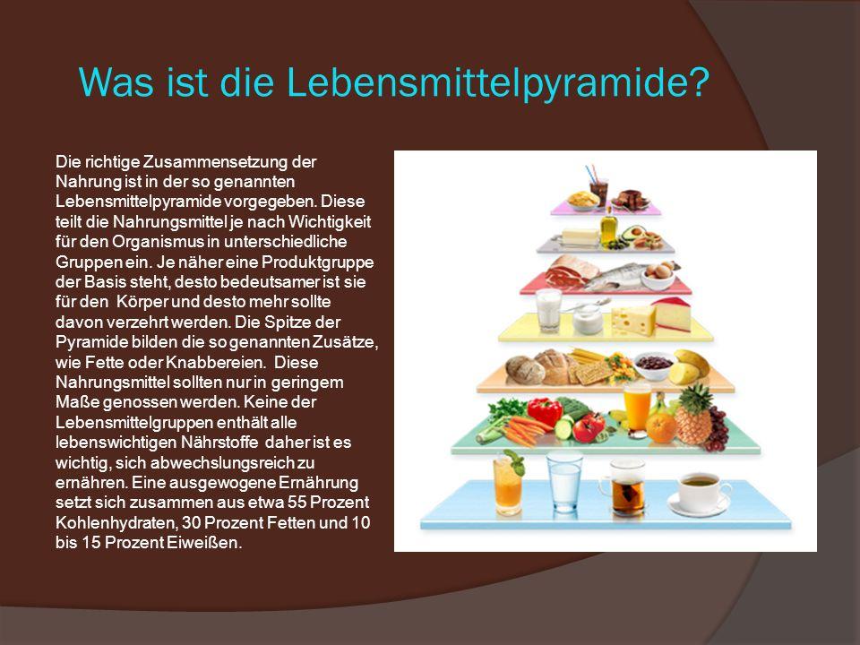 Was ist die Lebensmittelpyramide.