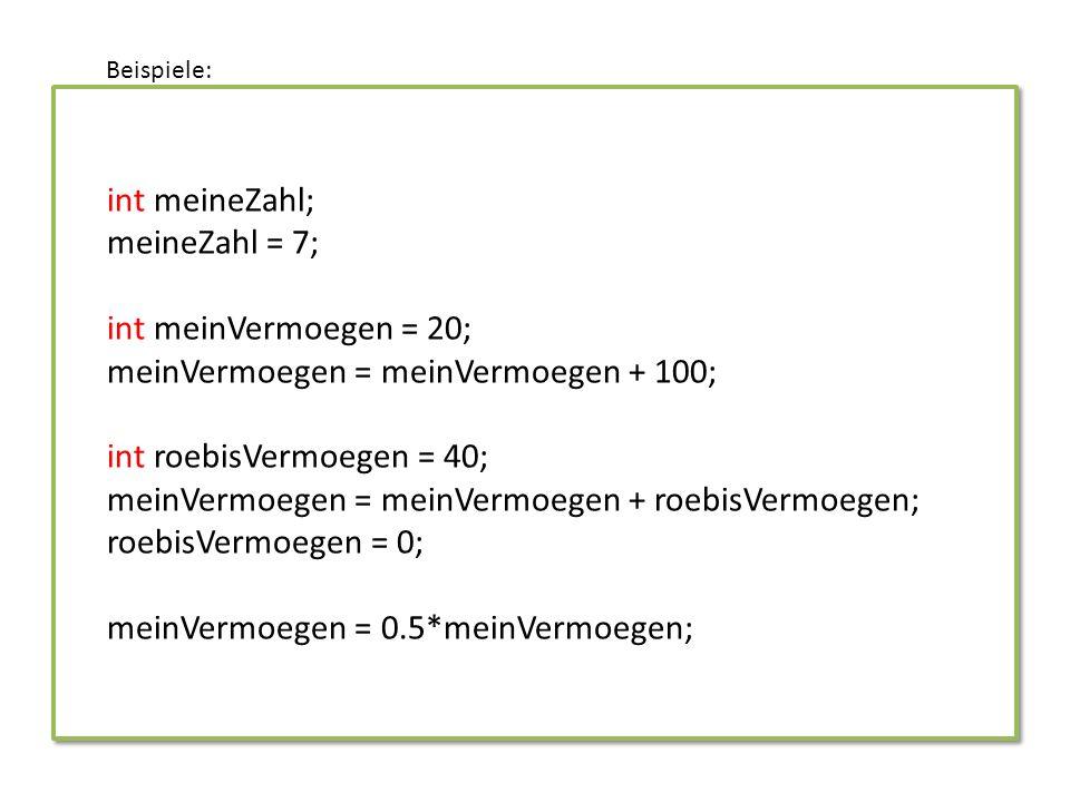 Variablen in der act()-Methode