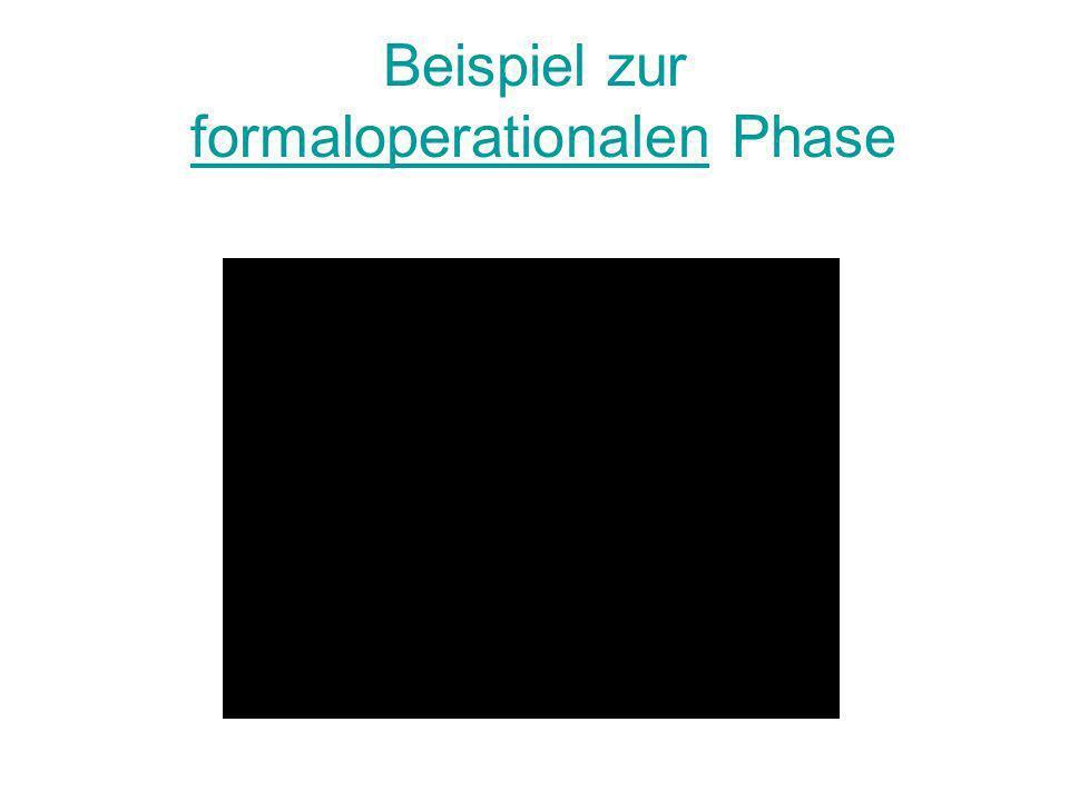 Beispiel zur formaloperationalen Phase