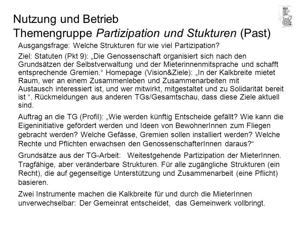 Entscheidungsfindung Beispiel Notfall GV Drehscheibe Gemeinrat Schlichtung Genossenschafter Mieter Gewerbe Arbeitsgruppen Vorstand Shit.