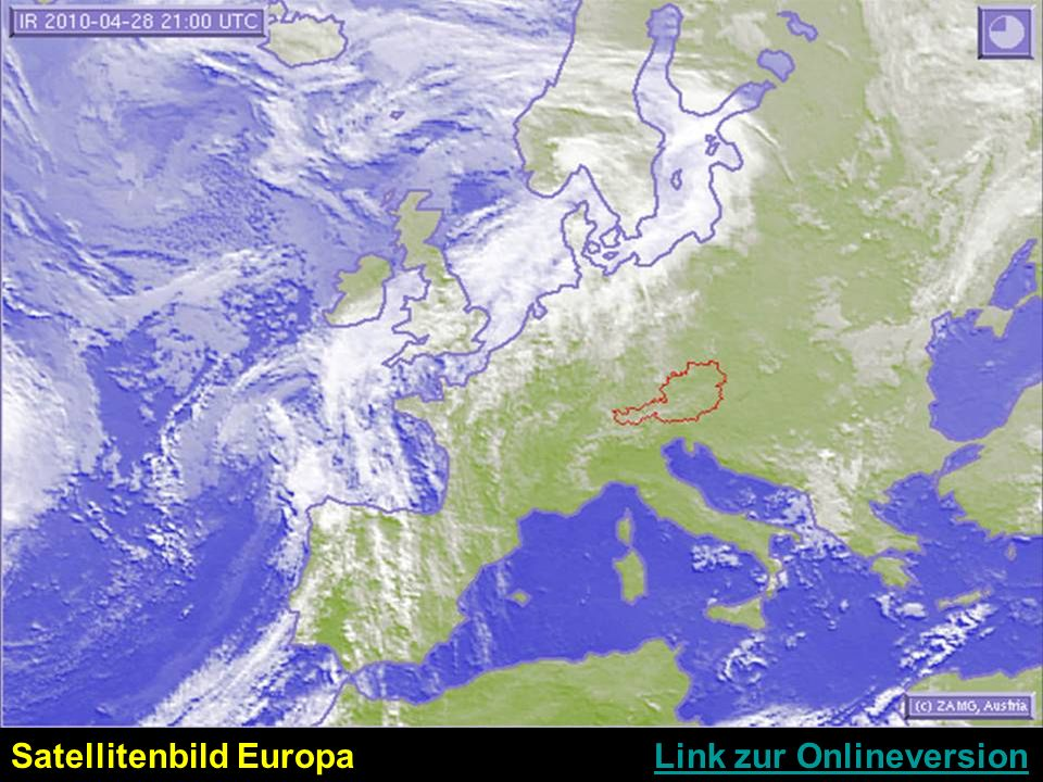 Satellitenbild Europa Link zur OnlineversionLink zur Onlineversion