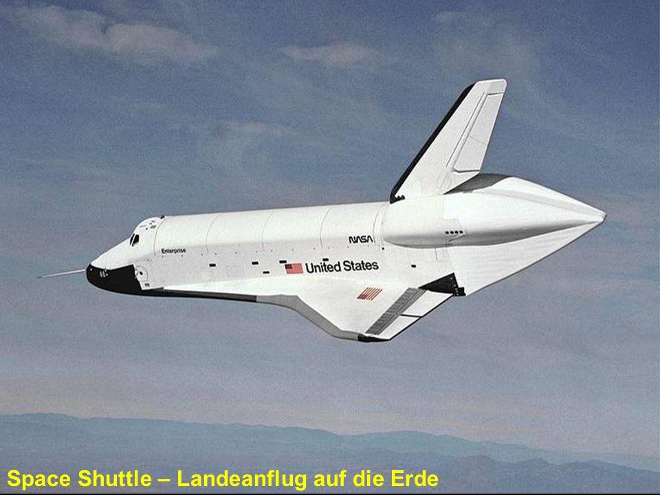 Space Shuttle – Landeanflug auf die Erde