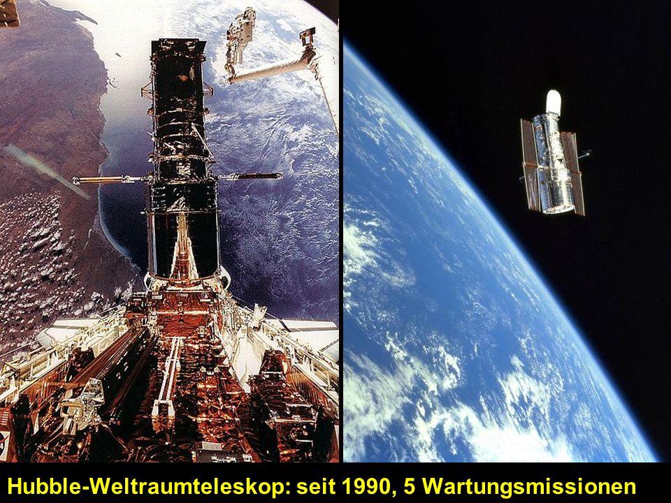 Hubble-Weltraumteleskop: seit 1990, 5 Wartungsmissionen