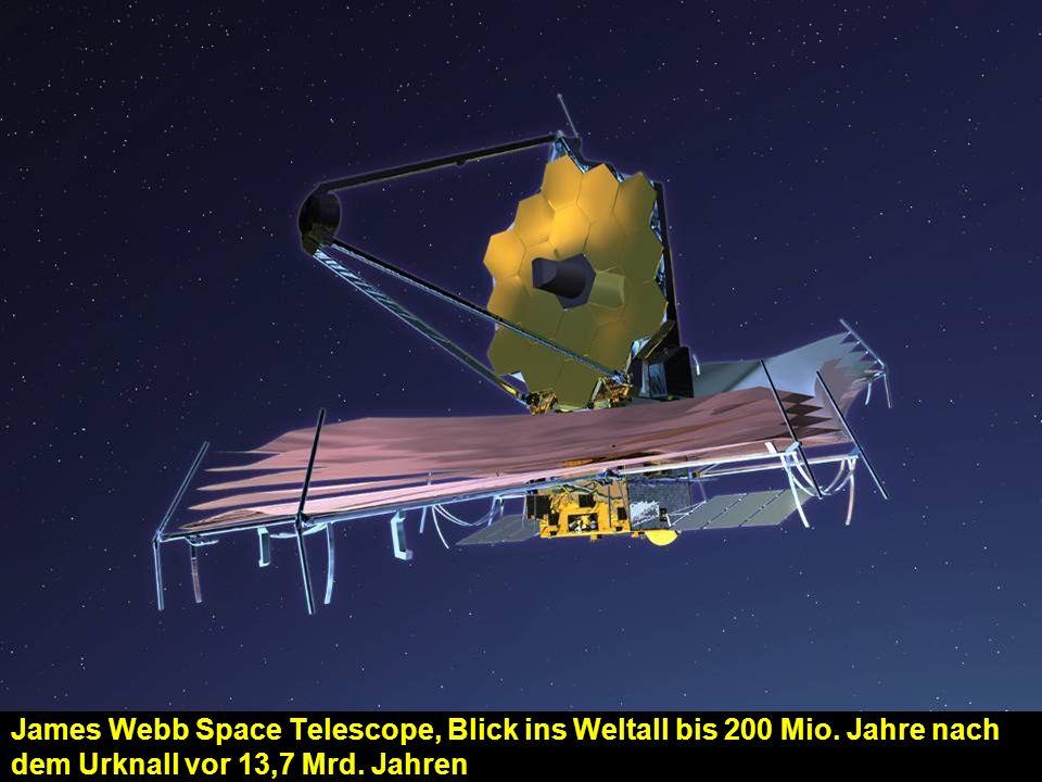 James Webb Space Telescope, Blick ins Weltall bis 200 Mio.