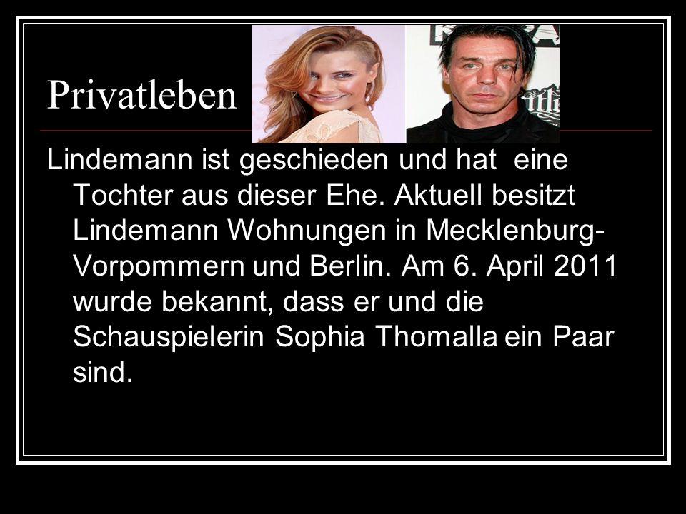 Schriftstellerisches Werk Seit 1991 schreibt Till Lindemann Gedichte.