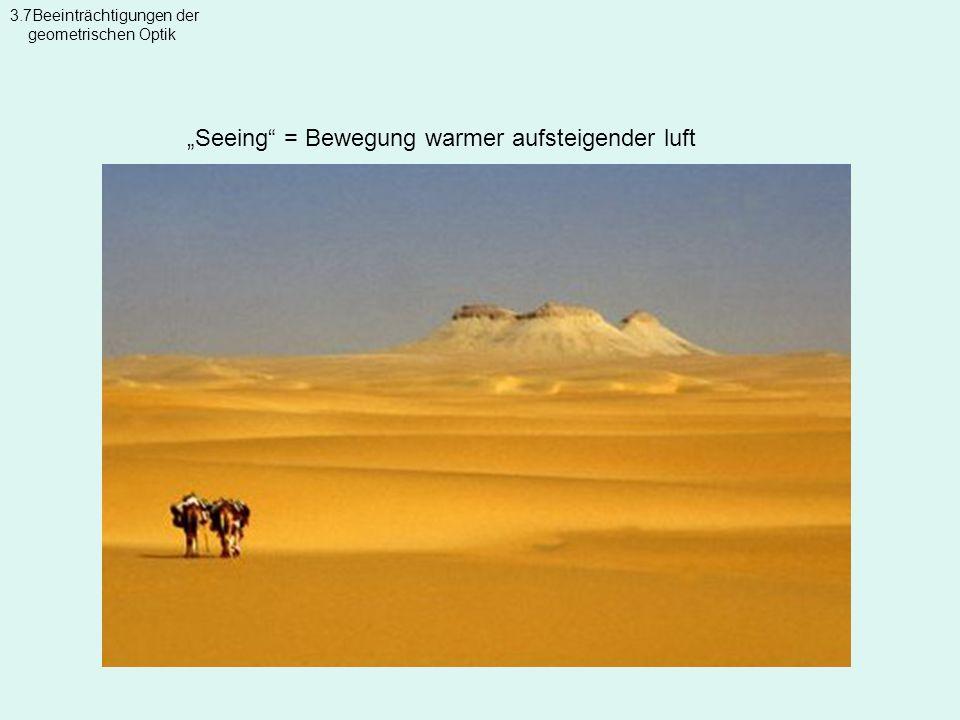 Seeing = Bewegung warmer aufsteigender luft 3.7Beeinträchtigungen der geometrischen Optik