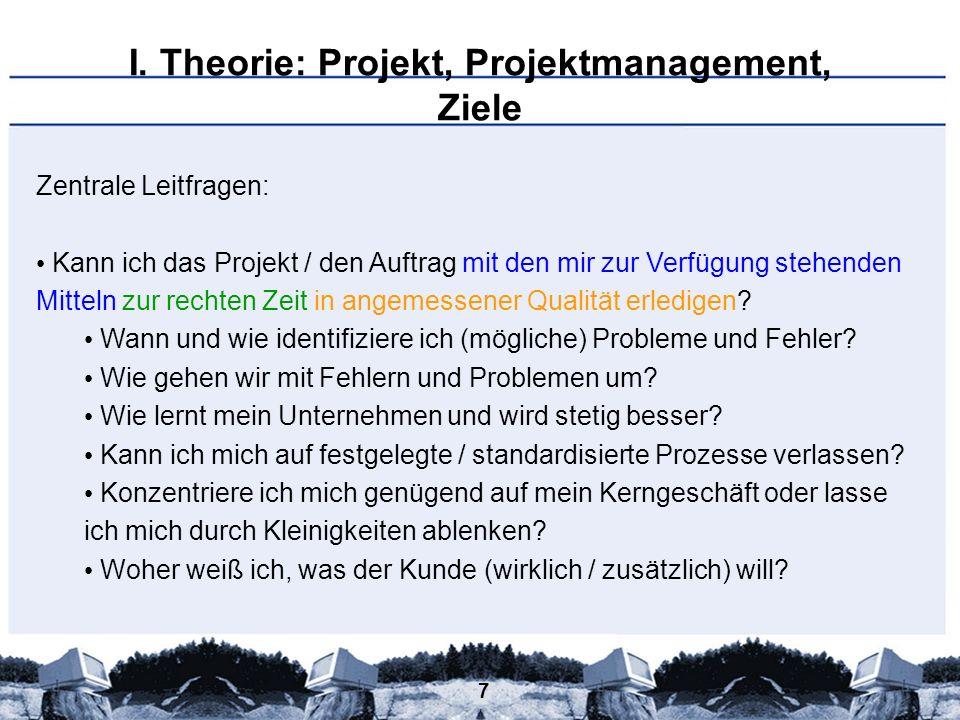 68 III.Projektmanagement-Werkzeugkoffer 1. Wertschöpfungskette & Prozessmodell 2.