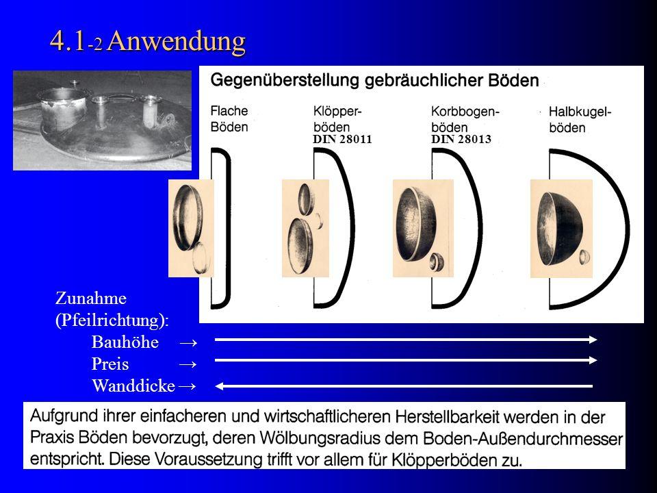 4.9 Schweißverbingung DIN 8558 DIN 8558: =30°; Häufig =15°; Schonend =10°; Boden Mantel Ausführungsbeispiel V-Naht: Erforderliche Bordhöhe h Σ = h 1 + h Schweißfuge Boden Mantel