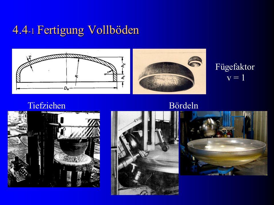 4.4 -1 Fertigung Vollböden Tiefziehen Bördeln Fügefaktor v = 1