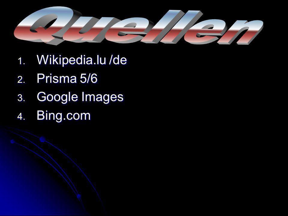 1. Wikipedia.lu /de 2. Prisma 5/6 3. Google Images 4. Bing.com