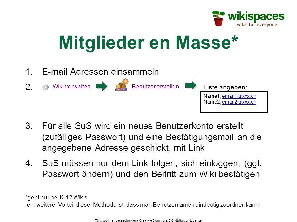 1.E-mail Adressen einsammeln 2.