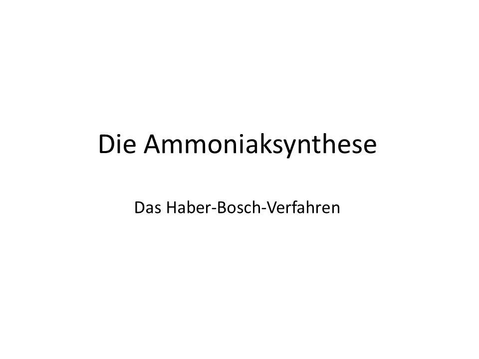 Das Haber-Bosch-Verfahren Die Ammoniaksynthese