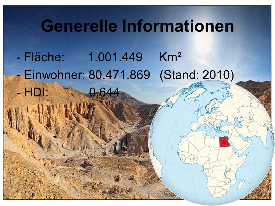 Generelle Informationen - Fläche: 1.001.449 Km² - Einwohner: 80.471.869 (Stand: 2010) - HDI: 0,644