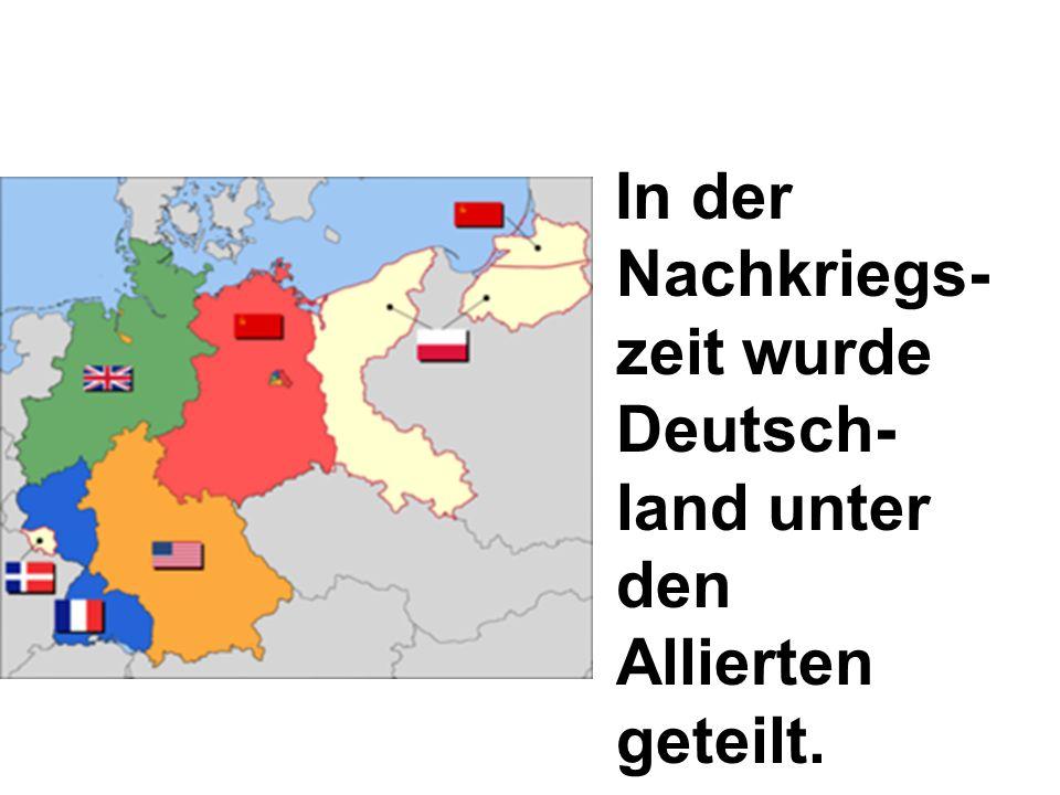 Die Sowjetunion kontrollierte Mecklenburg- Vorpommern, Sachsen, Sachsen- Anhalt, Brandenburg, Thüringen.