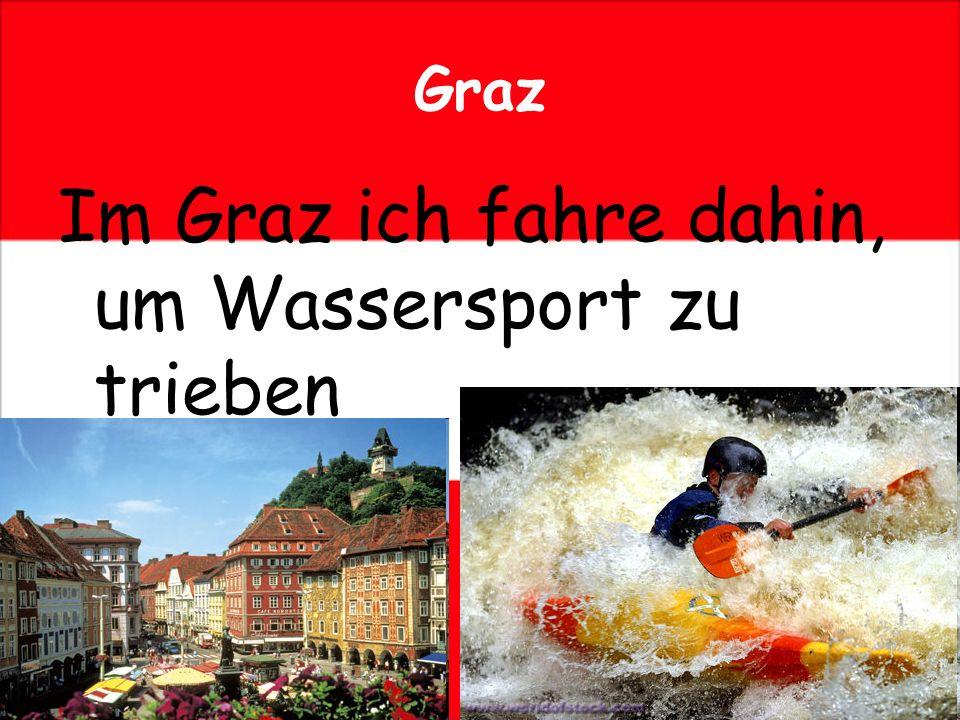 Graz Im Graz ich fahre dahin, um Wassersport zu trieben