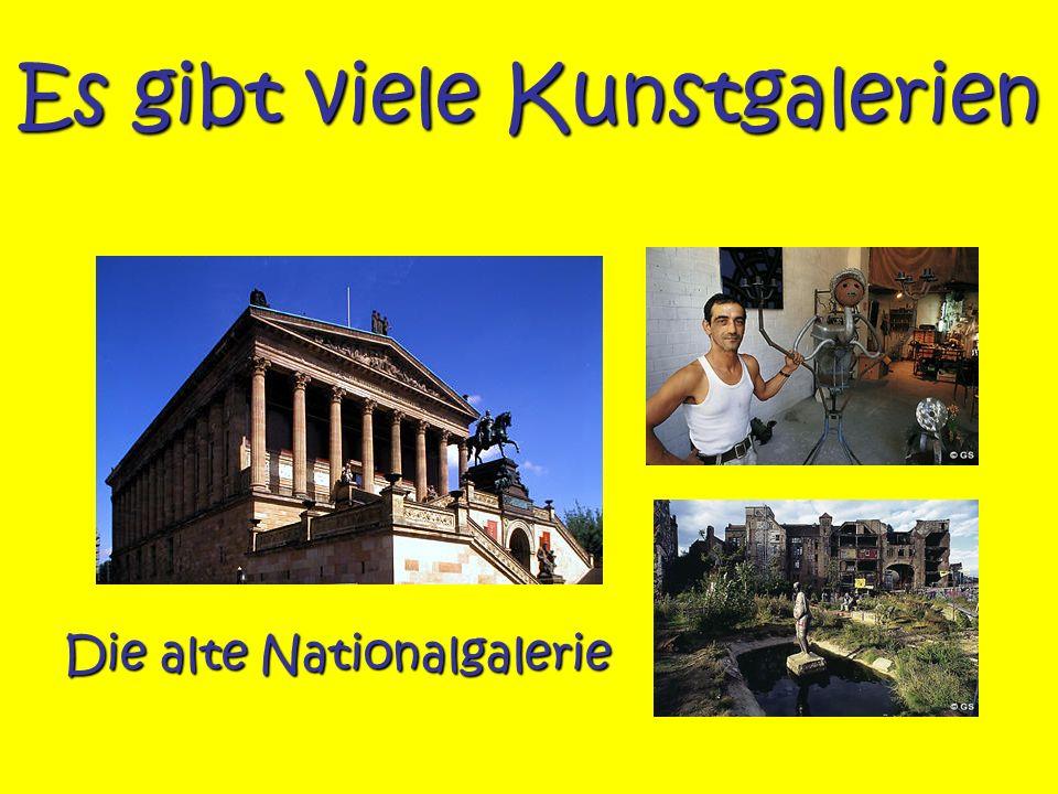 Es gibt viele Kunstgalerien Die alte Nationalgalerie