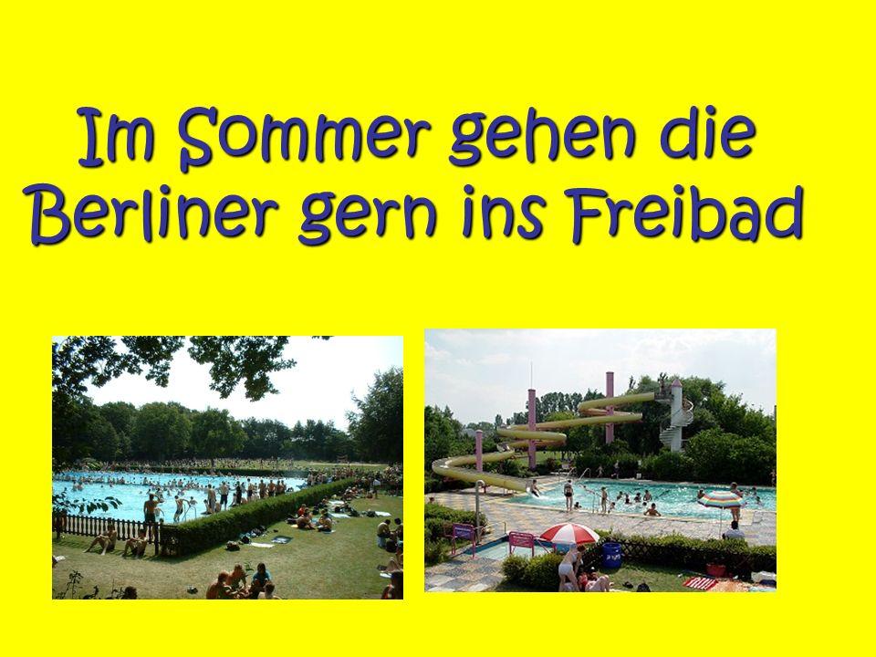 Im Sommer gehen die Berliner gern ins Freibad