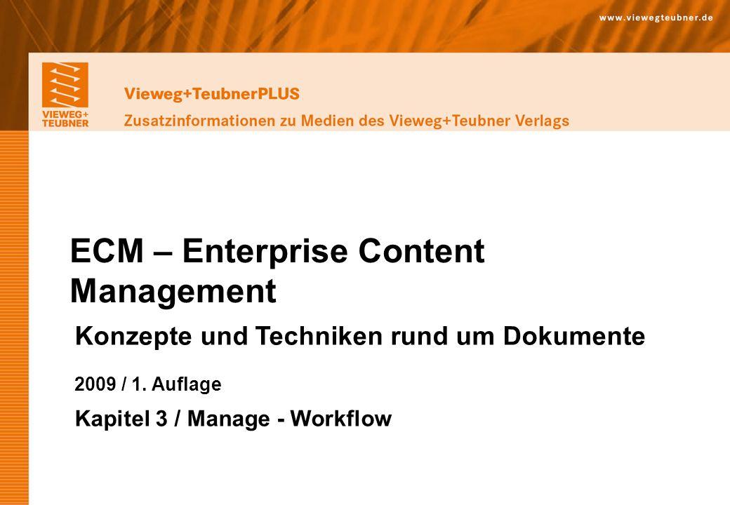 Vieweg+Teubner Verlag   Wiesbaden 2009 www.viewegteubner.de © Wolfgang Riggert   ECM – Enterprise Content Management Vieweg+TeubnerPLUS Zusatzinformationen zu Medien des Vieweg+Teubner Verlags Nutzen cont.