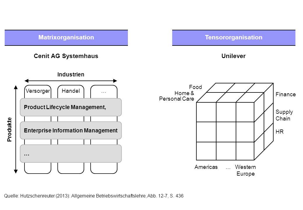 Normative Ebene Operative Ebene Strategische Ebene Planungs- und Kontrollsysteme Quelle: Hutzschenreuter (2013): Allgemeine Betriebswirtschaftslehre, Abb.