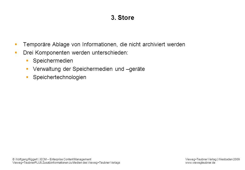 Vieweg+Teubner Verlag | Wiesbaden 2009 www.viewegteubner.de © Wolfgang Riggert | ECM – Enterprise Content Management Vieweg+TeubnerPLUS Zusatzinformationen zu Medien des Vieweg+Teubner Verlags 3.
