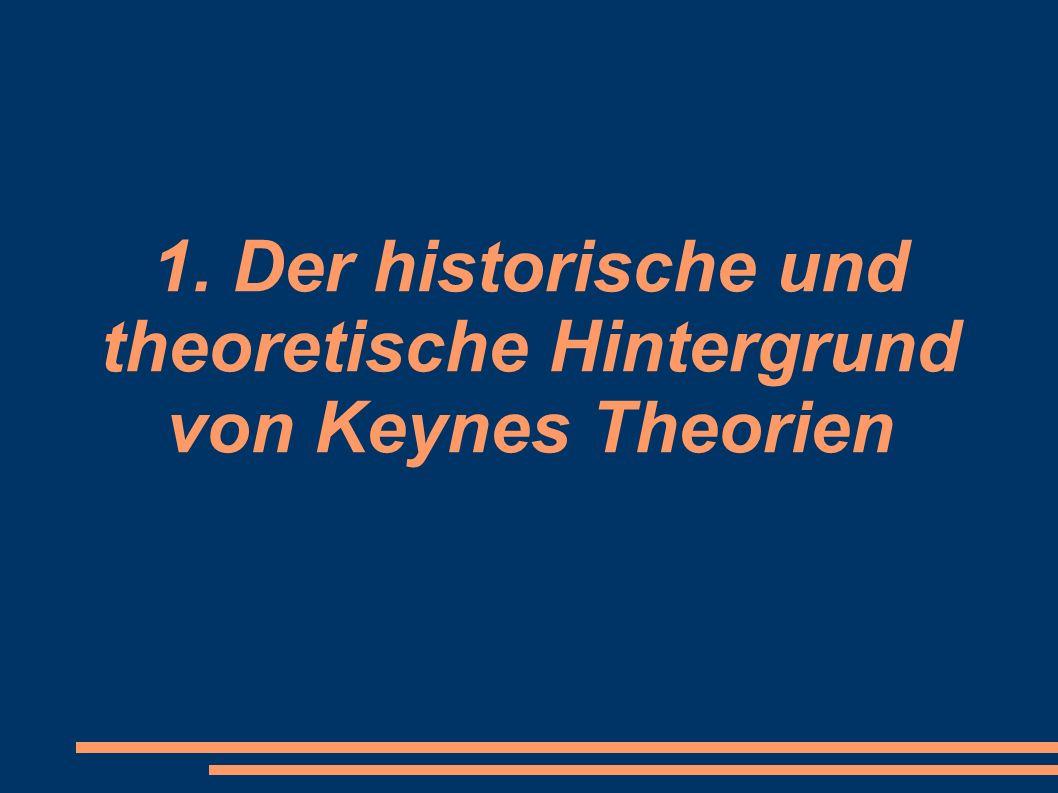 2.1 Keynes theoretische Annahmen zur antizyklischen Wirtschaftspolitik (4) Verhinderung einer Investitionsfalle: - Unternehmen können vorhandene Produktionskapazitäten nicht auslasten - Investitionen lohnen sogar dann nicht, wenn die Zinsen sehr niedrig sind -> keine Folgeinvestitionen, Wirtschaftskreislauf ist gehemmt