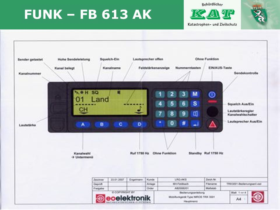 Autor www.katastrophenschutz.steiermark.at FUNK – FB 613 AK