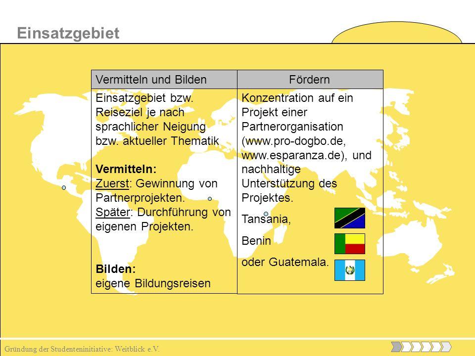 Gründung der Studenteninitiative: Weitblick e.V.