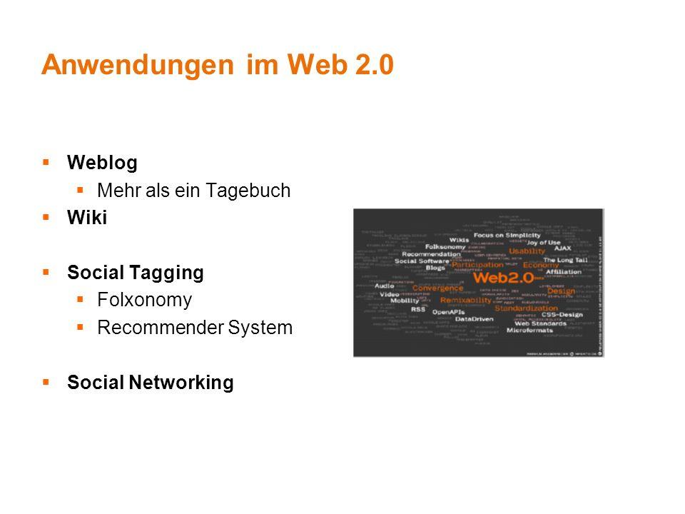 Nutzung von Web 2.0-Angeboten Web 2.0 Nutzer rund 50% aller Onliner Davon aktive Teilnahme von 13% - 57%