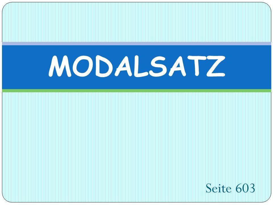 Seite 603 MODALSATZ
