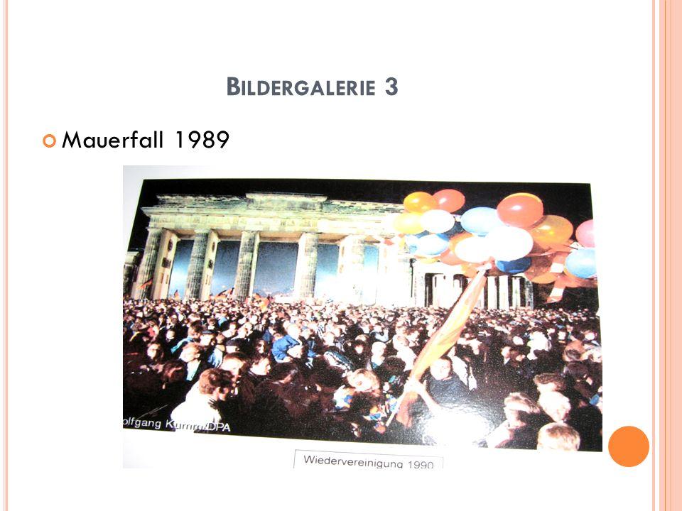 B ILDERGALERIE 3 Mauerfall 1989