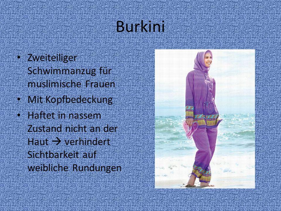 Burkini Zweiteiliger Schwimmanzug für muslimische Frauen Mit Kopfbedeckung Haftet in nassem Zustand nicht an der Haut verhindert Sichtbarkeit auf weib